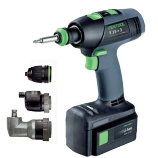 Perceuse visseuse sans fil T15+3 set Festool